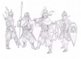 Slavic warriors by Hashashin619