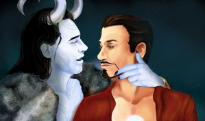 Winterheart Tony and Loki by Alikuu