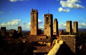 the towers of San Gimignano 1 by Mittelfranke