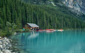 Lake Louise - the boat house by La-Vita-a-Bella