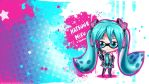 Hatsune Miku x Splatoon Wallpaper by Hellknight10