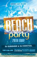 Summer Beach Party Flyer by Dilanr
