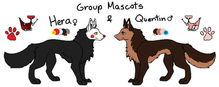 Simple HQ Adopts - Hera and Quentin by Japani69Katti