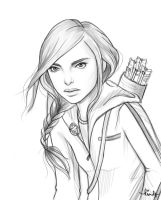 Katniss sketch by kimpertinent