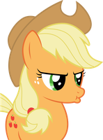 Applejack pouted by sunran80