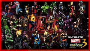 UMVC3 Wallpaper -Marvel 1- by werewolfgold