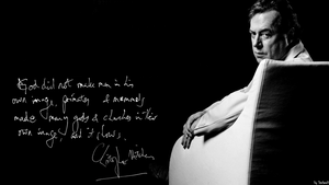 Christopher Hitchens Wallpaper Handwritten Quote by Stefaveli