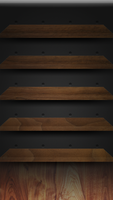 iPhone 5 Retina Walnut Shelves by Darnton