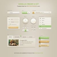 Vanilla Cream Ui Kit by bestpsdfreebies