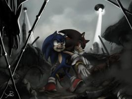 sonic and shadow by BBrangka