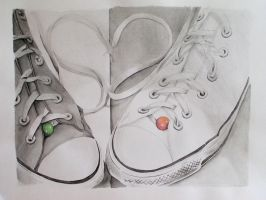 Converse All Stars touching by pikaf