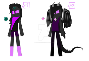 Minecraft gems adopt- Enders- CLOSED by BabyWitherBoo