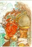 watercolor Dwarf by lroyburch