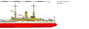 BB-7 USS Illinois 1897 by darthpandanl