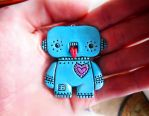 Love-bot pendant by Creepy-Cute-Couture
