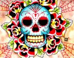 Sugar Skull Painting by misscarissarose