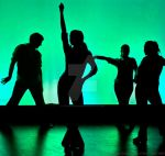 Green Silhouetted Dancers by FuriousEnnui