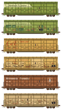 Thrall All-Door Boxcars by Atticus-W