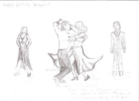Sorcha and Tornica dance by SaffyLailo