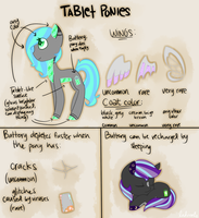 [NEW SPECIES] Tablet Ponies by StormSwirl1