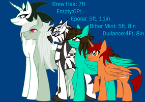 OC Pony height Chart by cdla
