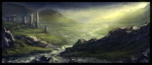 Scottish Landscape Speed Painting by ChrisDrake1987