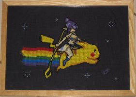 Nyan Judith cross-stitch by yoskopolite