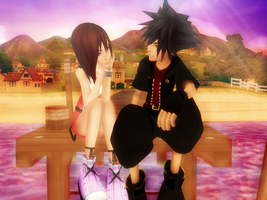 Kairi and Vanitas by SorasPrincesss