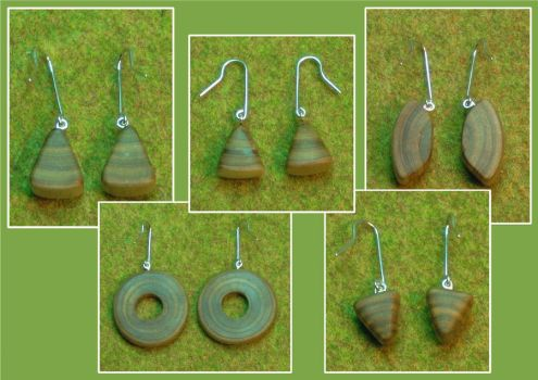 Wooden Earings by YiorYeosa