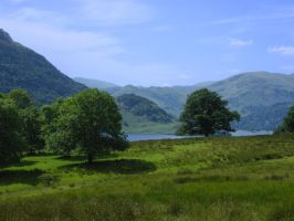 Lakes Stock: Above Ullswater by Queenselphie