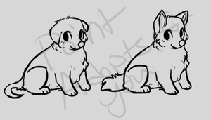 Puppy lineart by PointAdoptsforyou