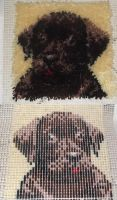 puppy latch hook rug by ThePsychoSloth