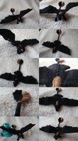 Needle Felted Toothless by Aura-BleedingHeart