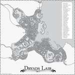 Dryads' Lair fantasy city map by Meshon