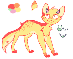 Horned Cat Adoptable -name your price- by SugarrCane