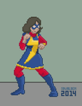 Ms. Marvel Pixel Fighting by SDWalden