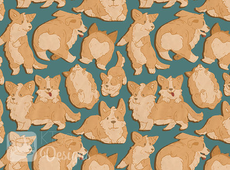 Corgi Pupper Pattern by KqKangaroo