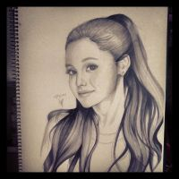 Ariana Grande Portrait by thumbelin0811