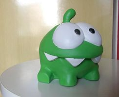 Om Nom sculpture - Cut the rope by guyolsson