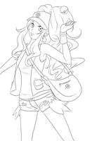 Pokemon b+w lineart by Kohane-chan