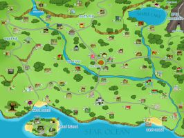 MoE : Maple Town Map (with Houses) by n3kozuki