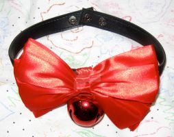 Neko Collar With A Red Bell by EvilNekoYoukai