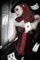 Lady Of The Cards by Vampy-note