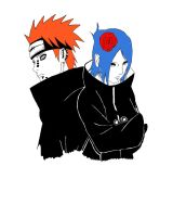 pain and konan  by sharkn06