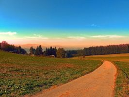 Hiking into the sunset by patrickjobst