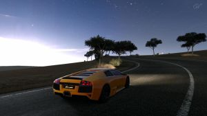 GT5 Lambo Sunset by Squall-Darkheart