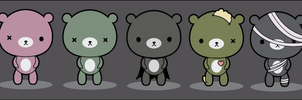 Halloween bears design by mikaiya-chan