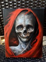 The Red Death 8x10 oil on canvas  by zackdunn89