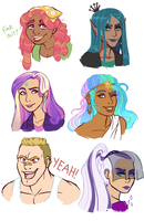 More Humanized Ponies by Lopoddity
