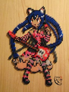 Azu-Nyan K-on! Perler Beads by Cimenord